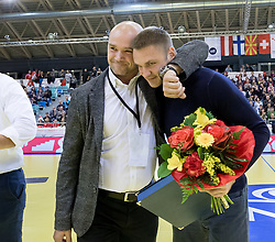 02.11.2016, Arena Nova, Wiener Neustadt, AUT, EHF, Handball EM Qualifikation, Österreich vs Finnland, Gruppe 3, im Bild v.l. Generalsekretär Martin Hausleitner (ÖHB), Vytautas Ziura (AUT)// during the EHF Handball European Championship 2018, Group 3, Qualifier Match between Austria and Finland at the Arena Nova, Wiener Neustadt, Austria on 2016/11/02. EXPA Pictures © 2016, PhotoCredit: EXPA/ Sebastian Pucher
