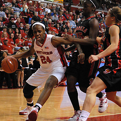 Dec 7, 2008; Piscataway, NJ, USA; Rutgers forward Myia McCurdy (24) battles Georgia defenders in the paint during the second half of Rutgers' 45-34 victory over Georgia in the Jimmy V Classic at Louis Brown Athletic Center.