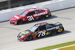 August 12, 2018 - Brooklyn, Michigan, United States of America - Martin Truex, Jr (78) and Ryan Newman (31) battle for position during the Consumers Energy 400 at Michigan International Speedway in Brooklyn, Michigan. (Credit Image: © Chris Owens Asp Inc/ASP via ZUMA Wire)