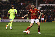 Nottingham Forest midfielder Henri Lansbury (10)  during the Sky Bet Championship match between Nottingham Forest and Brighton and Hove Albion at the City Ground, Nottingham, England on 11 April 2016. Photo by Simon Davies.