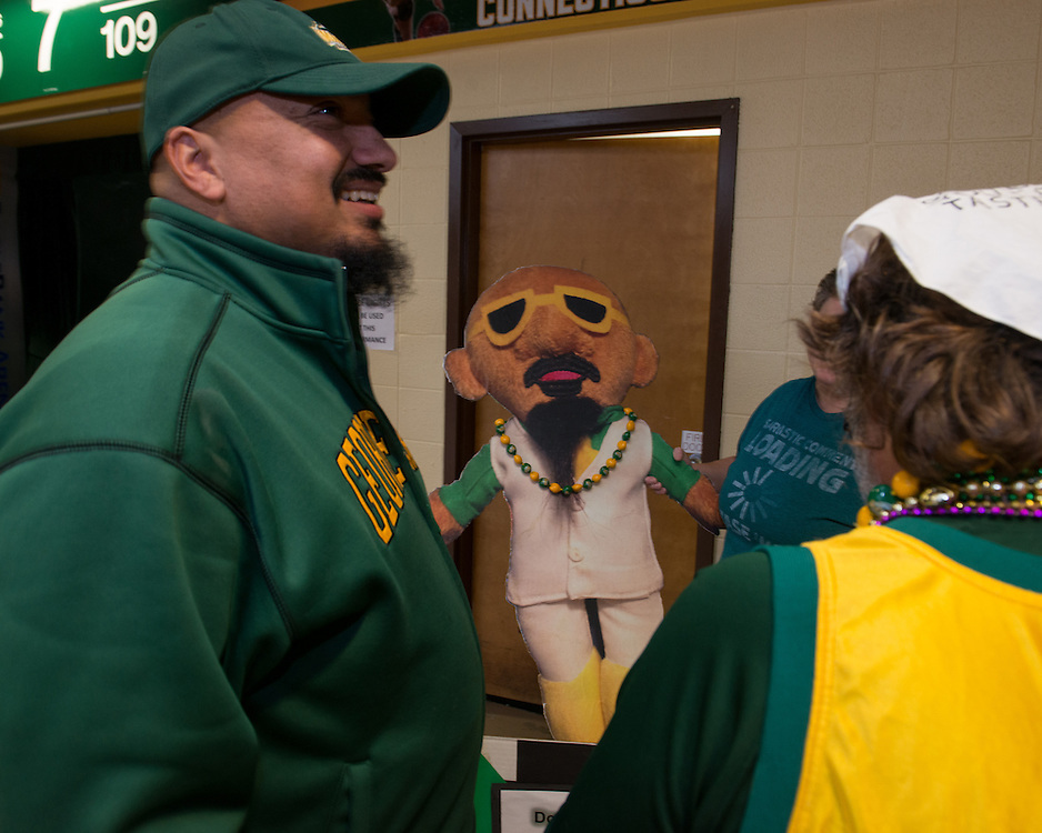 December 5, 2015 - Fairfax, VA - A day in the life of &quot;Doc Nix,&quot; aka Dr. Michael Nickens, the Director of the Athletic Bands for George Mason University.<br /> <br /> Photo by Susana Raab
