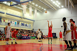 Bristol Academy Flyers' Greg Streete takes a free shot - Photo mandatory by-line: Dougie Allward/JMP - Tel: Mobile: 07966 386802 23/03/2013 - SPORT - Basketball - WISE Basketball Arena - SGS College - Bristol -  Bristol Academy Flyers V Essex Leopards