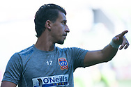 MELBOURNE, VICTORIA - JANUARY 06: Newcastle Jets defender Daniel Georgievski (17) looks on at the Hyundai A-League Round 11 soccer match between Melbourne City FC and Newcastle Jets on at AAMI Park in NSW, Australia 06 January 2019. (Photo by Speed Media/Icon Sportswire)