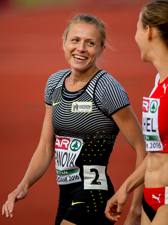 06-07-2016 NED: European Athletics Championships, Amsterdam<br /> Yuliya Stepanova EAA (RUS), Selina Buchel SUI