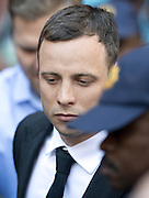 Day of Verdict In The Trial Of Oscar Pistorius<br /> <br /> Oscar Pistorius at court for verdict on his trial for the murder of Reeva Steenkamp.<br /> <br /> Oscar Pistorius arrives in North Gauteng High Court on September 11, 2014 in Pretoria, South Africa where Judge Thokozile Masipa will deliver judgment on  Oscar Pistorius for the murder of his girlfriend, model Reeva Steenkamp  <br /> ©Exclusivepix