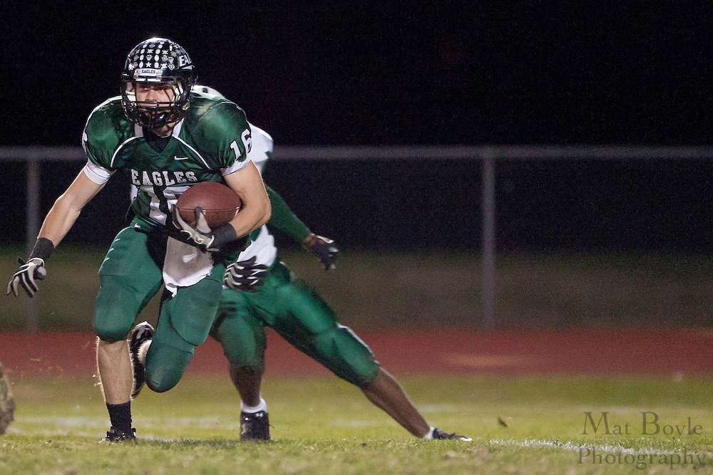 West Deptford High School's Connor Smith (16)..NJSIAA South Jersey Group 2 first round playoff game Pemberton High School at West Deptford High School on Friday November 11, 2011. (photo / Mat Boyle)