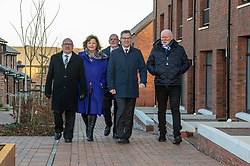 Pictured: David Dodds, West Lothian Council; Fiona Hyslop; John Hamilton; Winchburgh Development Ltd; Derek Mackay and Sir Tom Hunter<br /> Finance Secretary Derek Mackay headed to Winchburgh today to meet developers of new 3,450-home village. As well as the new homes, schools and other associated infrastructure will be built at Winchburgh. Derek Mackay met Sir Tom Hunter and Local MSP, Fiona Hyslop, the developers and West Lothian Council officials.<br /> Ger Harley | EEm 17 January 2019
