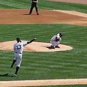 Alex Rodriguez fielding at third base during the New York Yankees V Detroit Tigers Major League Baseball regular season baseball game at Yankee Stadium, The Bronx, New York. 11th August 2013. Photo Tim Clayton