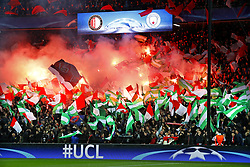 Champions League 2017/2018<br />Feyenoord-Manchester City<br />Feyenoord-supporters nog hoopvol voorafgaand aan het duel in de champions League<br />Foto ; Pim Ras during the UEFA Champions League group F match between Feyenoord Rotterdam and Manchester City at the Kuip on September 13, 2017 in Rotterdam, The Netherlands