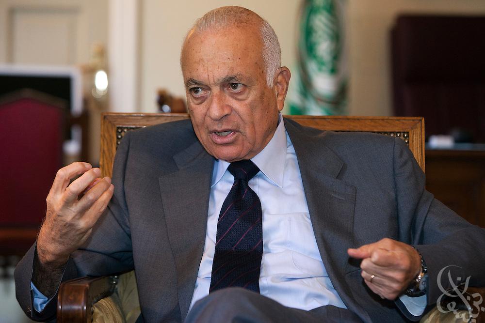 Arab League Secretary-general Nabil Elaraby speaks during an interview August 27, 2011 in Cairo, Egypt.  (Photo by Scott Nelson for Der Spiegel)