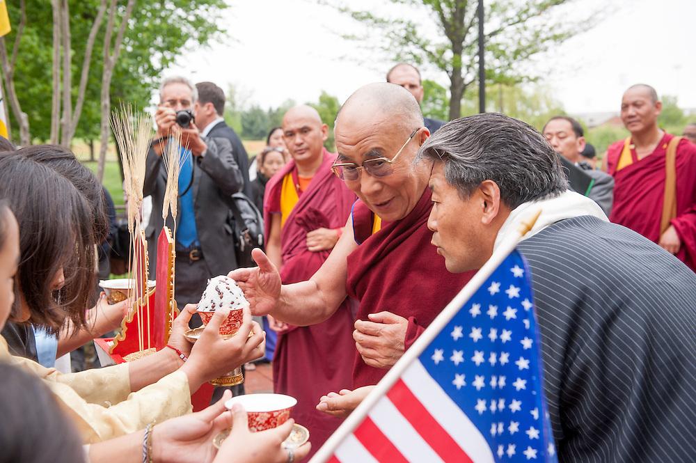 Dalai Lama Arrives at University of Maryland