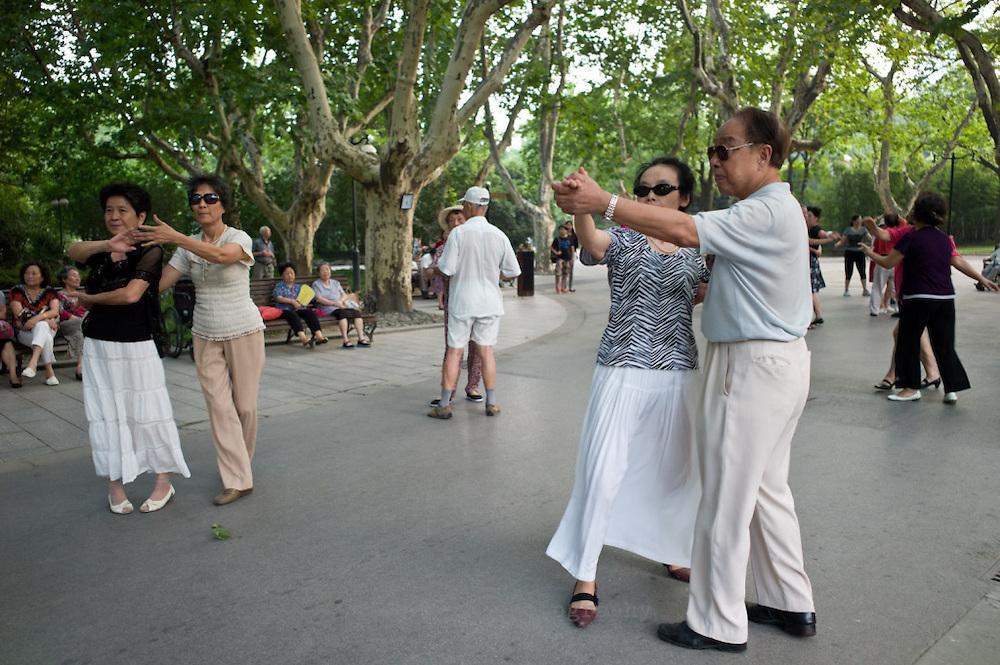 Ballroom dancing in Fuxing Park, Shanghai, China.