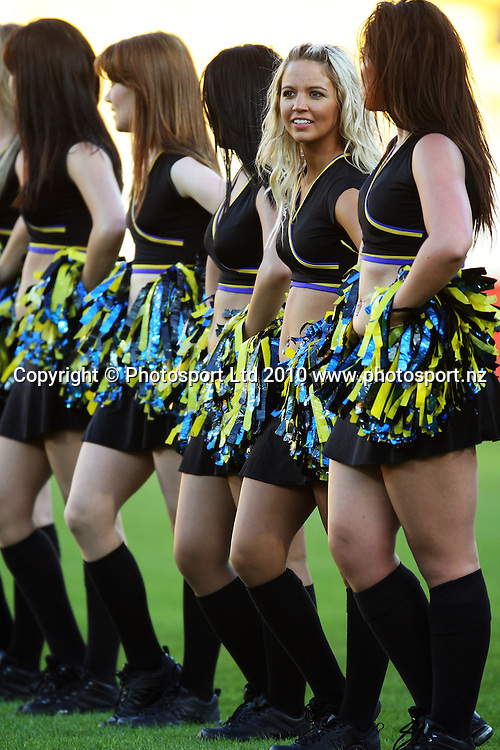 Hurricanes cheeleaders.<br /> Super 14 rugby match - Hurricanes v Western Force at Westpac Stadium, Wellington. Saturday, 20 February 2010. Photo: Dave Lintott/PHOTOSPORT