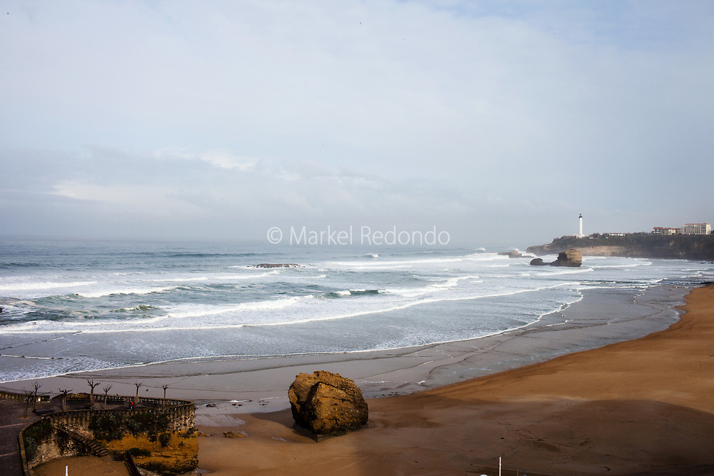 The Grand Plage in Biarritz, France.