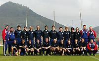 Fotball - Treningsleir La Manga 13. mars 2002. Lagbilde Strømgodset. 1. divisjon fotball. Gruppebilde. <br /> <br /> Foto: Andreas Fadum, Digitalsport