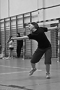 Badminton tournament for young players in Warsaw Poland photography by Piotr Gesicki