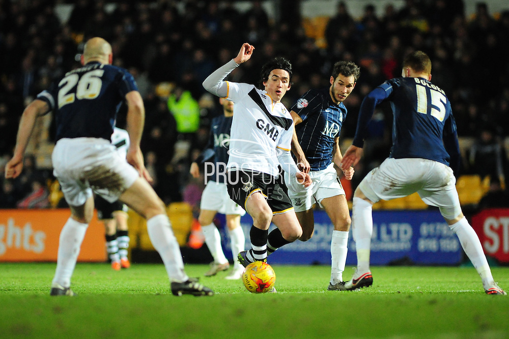 Louis Dodds of Port Vale FC during the Sky Bet League 1 match between Port Vale and Southend United at Vale Park, Burslem, England on 26 February 2016. Photo by Mike Sheridan.