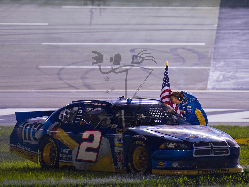Sparta, KY - JUN 30, 2012:  Brad Keselowski (2) wins the Quaker State 400 at Kentucky Speedway in Sparta, KY.