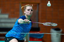 Tamara van der Hoeven during the Dutch Championships Badminton on February 1, 2020 in Topsporthal Almere, Netherlands