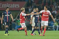 joie Reims / Aissa Mandi / Franck Signorino - 23.05.2015 - PSG / Reims - 38eme journee de Ligue 1<br />Photo : Andre Ferreira / Icon Sport