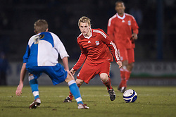 BRISTOL, ENGLAND - Thursday, January 15, 2009: Liverpool's Chris Buchtmann in action against Bristol Rovers during the FA Youth Cup match at the Memorial Stadium. (Mandatory credit: David Rawcliffe/Propaganda)