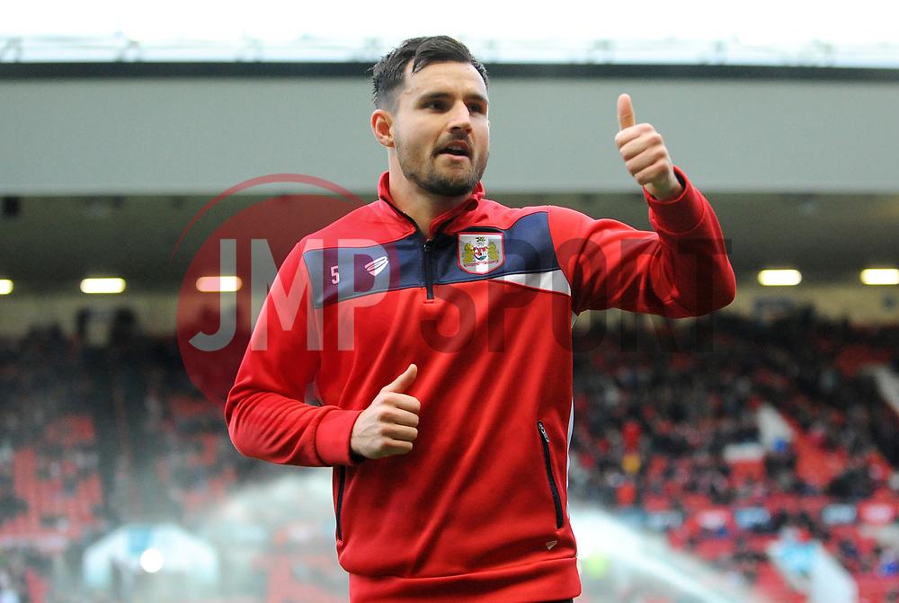 Bailey Wright of Bristol City gestures -Mandatory by-line: Nizaam Jones/JMP - 29/12/2018 - FOOTBALL - Ashton Gate Stadium - Bristol, England - Bristol City v Rotherham United - Sky Bet Championship