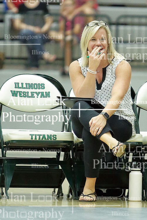 23 September 2017:  Kim Nelson-Brown during an NCAA womens division 3 Volleyball match between the Tufts Jumbos and the Illinois Wesleyan Titans in Shirk Center, Bloomington IL