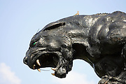 CHARLOTTE, NC - SEPTEMBER 18:  Carolina Panthers statue of a panther outside the stadium at the week two game against the New England Patriots at Bank of America Stadium on September 18, 2005 in Charlotte, North Carolina. The Panthers defeated the Patriots 27-17. ©Paul Anthony Spinelli