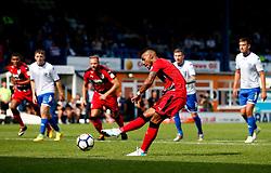 Elias Kachunga of Huddersfield Town scores his sides second goal from the penalty spot - Mandatory by-line: Matt McNulty/JMP - 16/07/2017 - FOOTBALL - Gigg Lane - Bury, England - Bury v Huddersfield Town - Pre-season friendly
