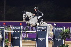 EHNING Marcus (GER), Calanda 42<br /> Doha - CHI Al SHAQAB 2020<br /> Commercial Bank CHI Al Shaqab Grand Prix presented by LONGINES<br /> Int. jumping competition over two rounds and jump-off (1.60 m)<br /> 29. Februar 2020<br /> © www.sportfotos-lafrentz.de/Stefan Lafrentz