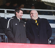 Alloa Athletic manager Barry Smith and Chairman Mike Mulraney - Dundee v Alloa Athletic, SPFL Championship at Dens Park<br /> <br />  - &copy; David Young - www.davidyoungphoto.co.uk - email: davidyoungphoto@gmail.com