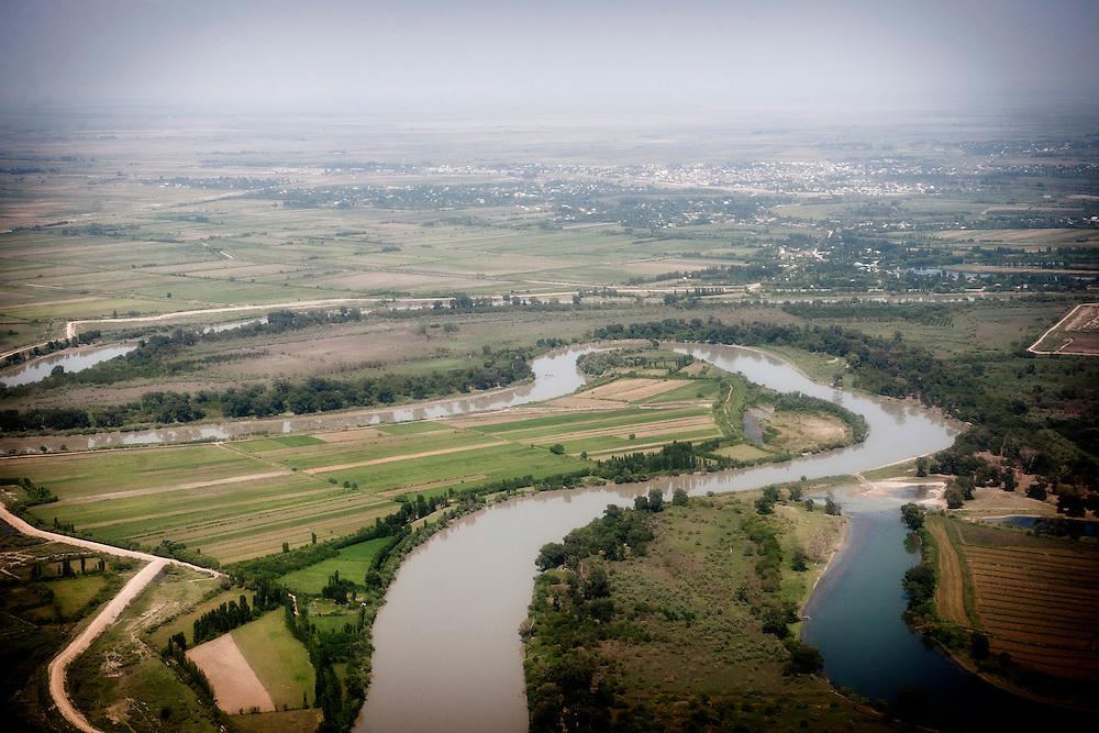 Baku, Azerbaijan, 25 July 2012<br /> Aerial view of Azerbaijan's countryside.<br /> Photo: Ezequiel Scagnetti