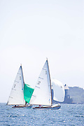 Shona and Surprise, S Class, sailing in the Robert H. Tiedemann Classic Yachting Weekend race 1.