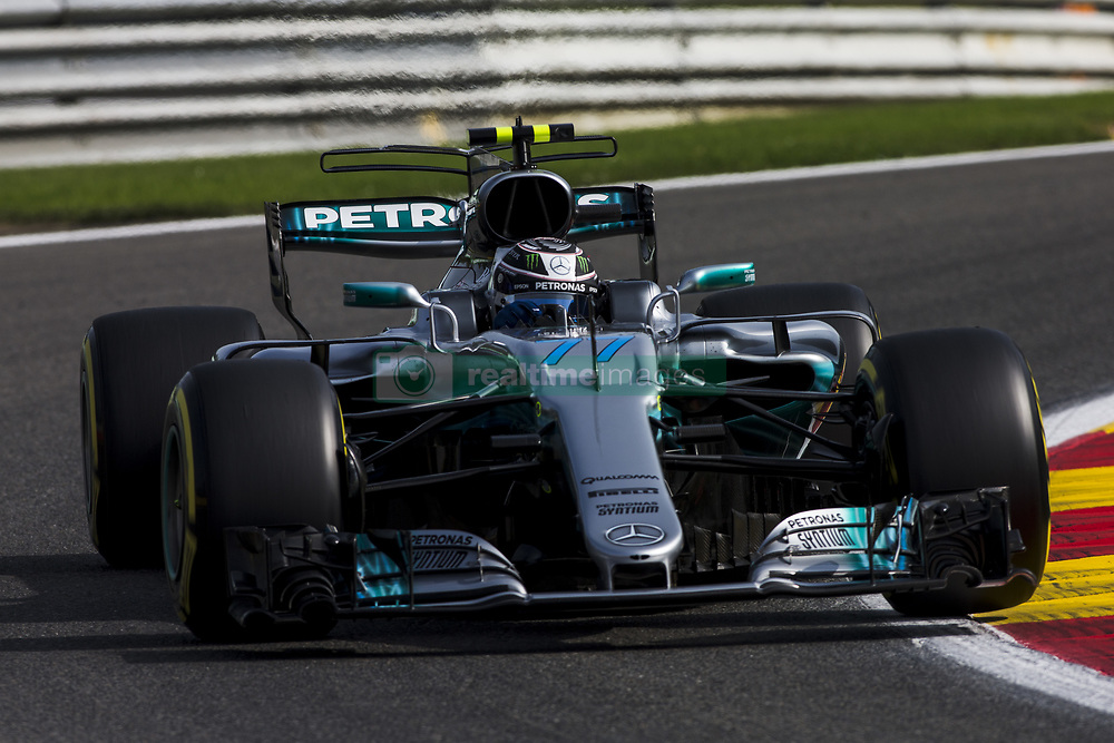 August 25, 2017 - Spa, Belgium - 77 BOTTAS Valtteri from Finland of team Mercedes GP during the Formula One Belgian Grand Prix at Circuit de Spa-Francorchamps on August 25, 2017 in Spa, Belgium. (Credit Image: © Xavier Bonilla/NurPhoto via ZUMA Press)