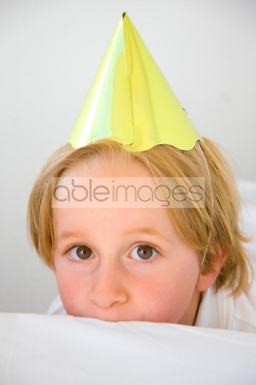 Boy Wearing Party Hat