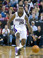 November 27, 2009; Sacramento, CA, USA;  Sacramento Kings forward Donte Greene (20) during the third quarter against the New Jersey Nets at the ARCO Arena. Sacramento defeated New Jersey 109-96.