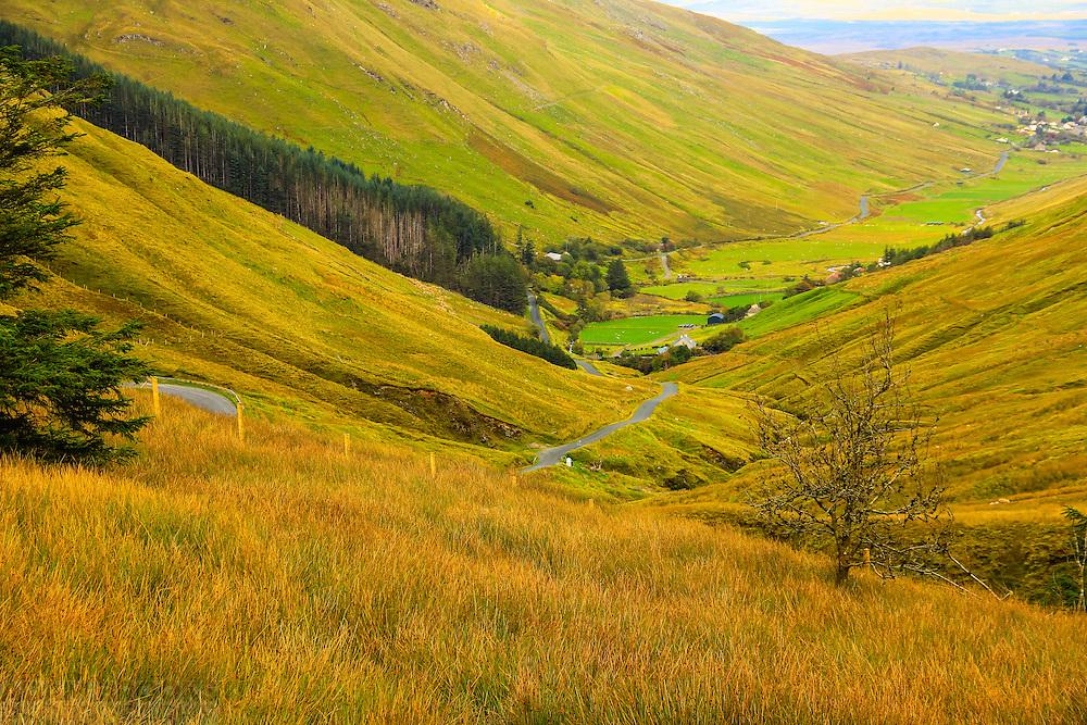 View down Glengesh Pass towards Ardara