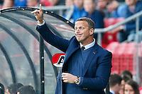 ALKMAAR - 04-10-2015, AZ - FC Twente, AFAS Stadion, 3-1, AZ trainer John van den Brom.