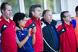 Justo Ruiz Gonzalez, head coach of Andorra during football game between Slovenia and Andorra of UEFA Under19 Championship Qualifications, on October 15, 2013 in Bakovci, Slovenia. (Photo by Erik Kavas / Sportida)