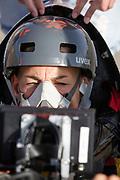 Iris Slappendel zit in de VeloX. In Battle Mountain, Nevada, oefent het team op een weggetje. Het Human Power Team Delft en Amsterdam, dat bestaat uit studenten van de TU Delft en de VU Amsterdam, is in Amerika om tijdens de World Human Powered Speed Challenge in Nevada een poging te doen het wereldrecord snelfietsen voor vrouwen te verbreken met de VeloX 7, een gestroomlijnde ligfiets. Het record is met 121,44 km/h sinds 2009 in handen van de Francaise Barbara Buatois. De Canadees Todd Reichert is de snelste man met 144,17 km/h sinds 2016.<br /> <br /> With the VeloX 7, a special recumbent bike, the Human Power Team Delft and Amsterdam, consisting of students of the TU Delft and the VU Amsterdam, wants to set a new woman's world record cycling in September at the World Human Powered Speed Challenge in Nevada. The current speed record is 121,44 km/h, set in 2009 by Barbara Buatois. The fastest man is Todd Reichert with 144,17 km/h.