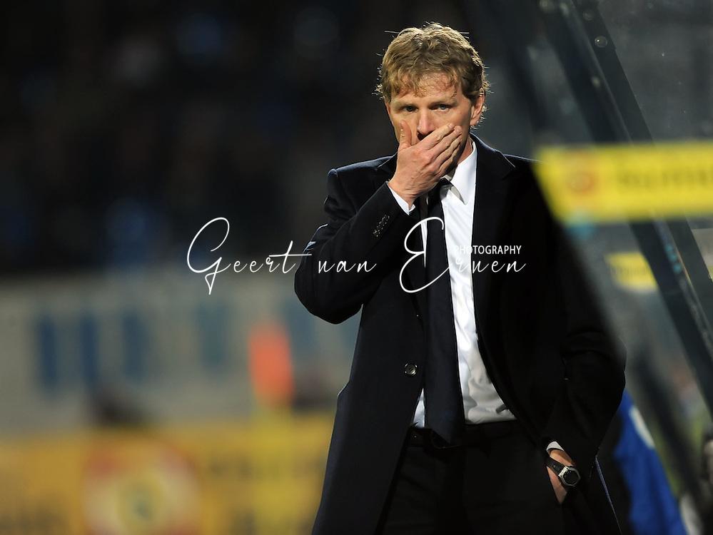14-03-2009 Voetbal:Willem II:FC Twente:Tilburg<br /> Alfons GROENENDIJK trainer van Willem II is nog altijd niet veilig<br /> Foto: Geert van Erven