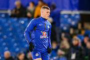 Chelsea midfielder Ross Barkley (8) warms up during the quarter final of the EFL Cup match between Chelsea and Bournemouth at Stamford Bridge, London, England on 19 December 2018.