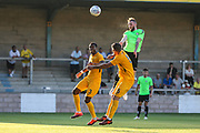 Forest Green Rovers Carl Winchester(7) heads the ball towards goal during the Pre-Season Friendly match between Torquay United and Forest Green Rovers at Plainmoor, Torquay, England on 10 July 2018. Picture by Shane Healey.