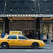 Taxi outside Bloomingdale's in Manhattan