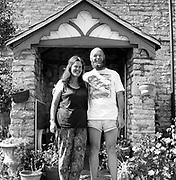 Micheal & Jean in their Worthy Farm garden, at Glastonbury, 1989.