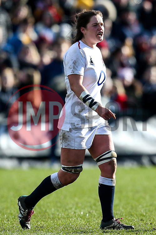 Poppy Leitch of England Women - Mandatory by-line: Robbie Stephenson/JMP - 10/02/2019 - RUGBY - Castle Park - Doncaster, England - England Women v France Women - Women's Six Nations