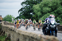 Head of the race weaving through the Nottinghamshire countryside at Aviva Women's Tour 2016 - Stage 4. A 119.2 km road race from Nottingham to Stoke-on-Trent, UK on June 18th 2016.