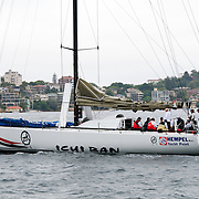 Ichi Ban at the start of the 2009 Rolex Sydney to Hobart Yacht Race in Sydney Harbour