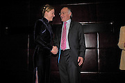 Eimear Montgomerie with Michael Howard. Conservative fund raising dinner hosted  by Marco Pierre White and Franki Dettori at  Frankie's. Knightsbridge. 17 January 2004. ONE TIME USE ONLY - DO NOT ARCHIVE  © Copyright Photograph by Dafydd Jones 66 Stockwell Park Rd. London SW9 0DA Tel 020 7733 0108 www.dafjones.com