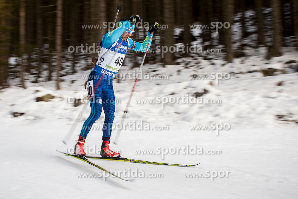 Yan Savitskiy (KAZ) during Men 10 km Sprint at day 1 of IBU Biathlon World Cup 2015/16 Pokljuka, on December 17, 2015 in Rudno polje, Pokljuka, Slovenia. Photo by Urban Urbanc / Sportida